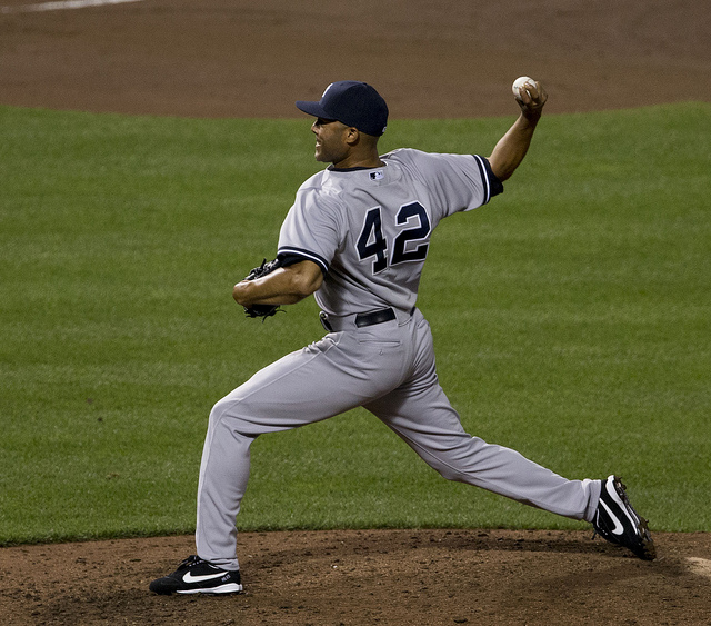 There are only nine games left to see Mariano Rivera pitch.  (Photo courtesy of Keith Allison on Flickr)