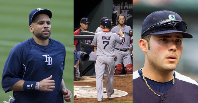 This season will involve storylines about Stephen Drew, Jesus Montero, and James Loney.   (Photos courtesy of Keith Allison via Flickr.)